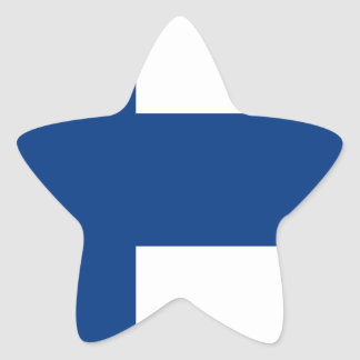 Low Cost! Finland Flag Star Sticker