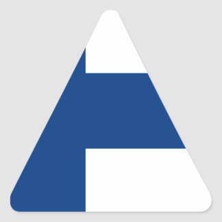 Low Cost! Finland Flag Triangle Sticker