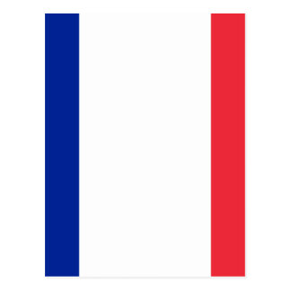 Low Cost! France Flag Postcard