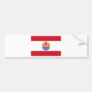 Low Cost! French Polynesia Flag Bumper Sticker