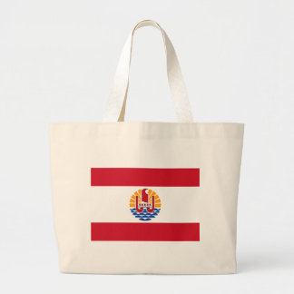 Low Cost! French Polynesia Flag Large Tote Bag