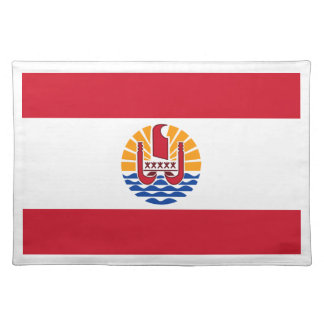 Low Cost! French Polynesia Flag Place Mats