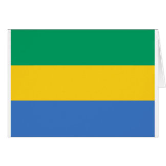Low Cost! Gabon Flag Card