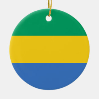 Low Cost! Gabon Flag Ceramic Ornament
