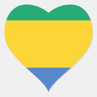 Low Cost! Gabon Flag Heart Sticker