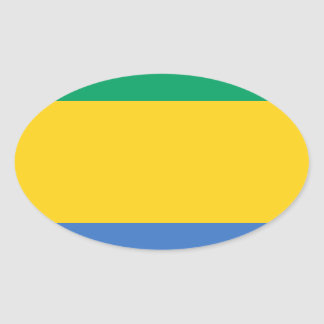 Low Cost! Gabon Flag Oval Sticker