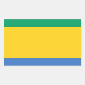 Low Cost! Gabon Flag Rectangular Sticker