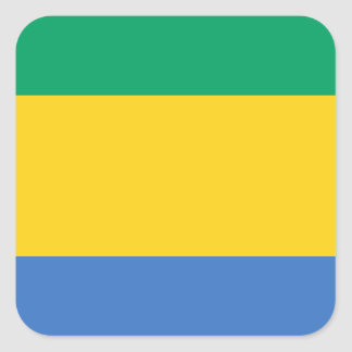 Low Cost! Gabon Flag Square Sticker