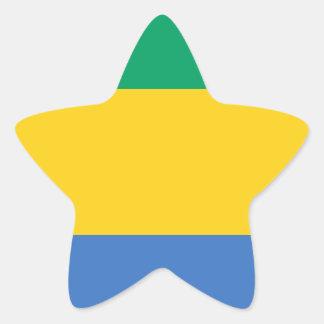Low Cost! Gabon Flag Star Sticker