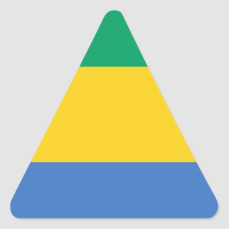 Low Cost! Gabon Flag Triangle Sticker