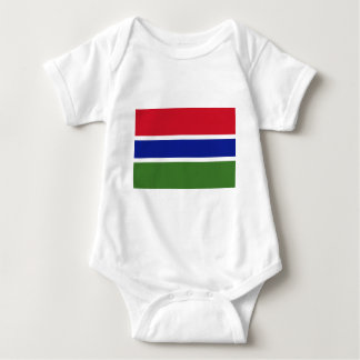 Low Cost! Gambia Flag Baby Bodysuit