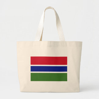 Low Cost! Gambia Flag Large Tote Bag
