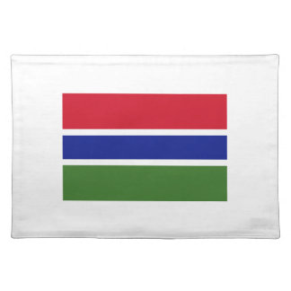 Low Cost! Gambia Flag Placemat