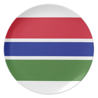 Low Cost! Gambia Flag Plate
