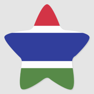 Low Cost! Gambia Flag Star Sticker