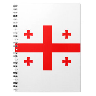 Low Cost! Georgia Flag Notebook