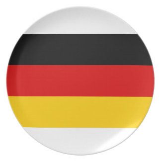 Low Cost! German Flag Dinner Plates