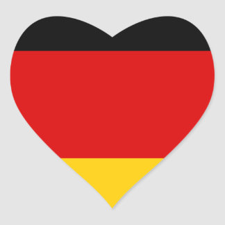 Low Cost! German Flag Heart Sticker