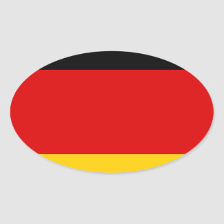 Low Cost! German Flag Oval Sticker