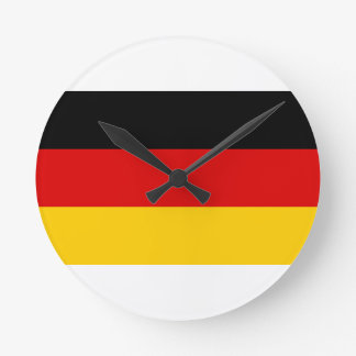 Low Cost! German Flag Round Clock