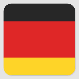 Low Cost! German Flag Square Sticker
