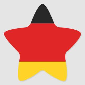 Low Cost! German Flag Star Sticker