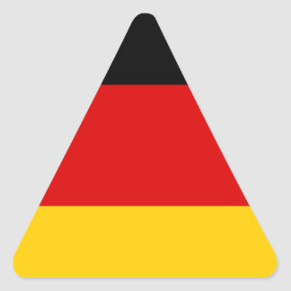 Low Cost! German Flag Triangle Sticker