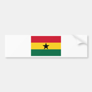 Low Cost! Ghana Flag Bumper Sticker