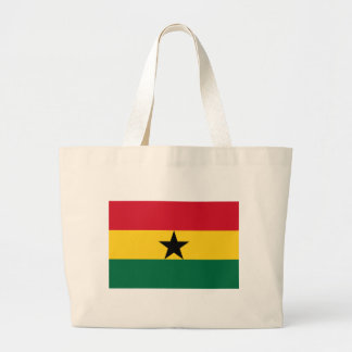 Low Cost! Ghana Flag Large Tote Bag