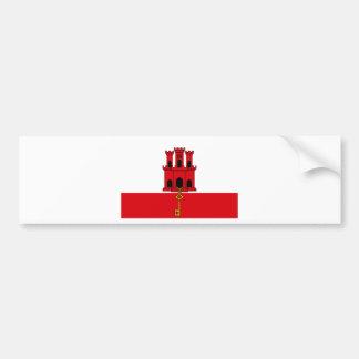Low Cost! Gibraltar Flag Bumper Sticker