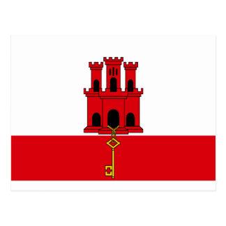 Low Cost! Gibraltar Flag Postcard