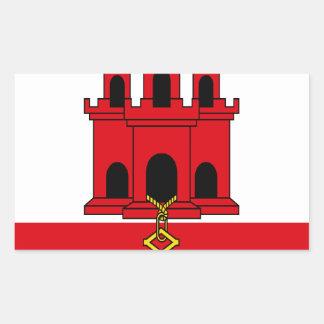Low Cost! Gibraltar Flag Rectangular Sticker