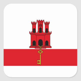 Low Cost! Gibraltar Flag Square Sticker