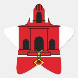 Low Cost! Gibraltar Flag Star Sticker