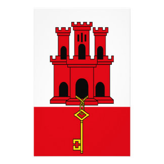 Low Cost! Gibraltar Flag Stationery