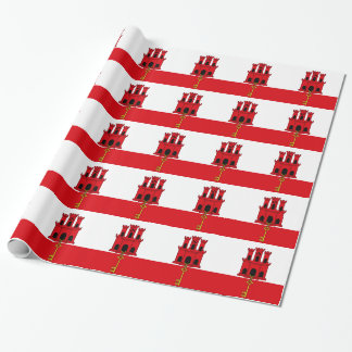 Low Cost! Gibraltar Flag Wrapping Paper