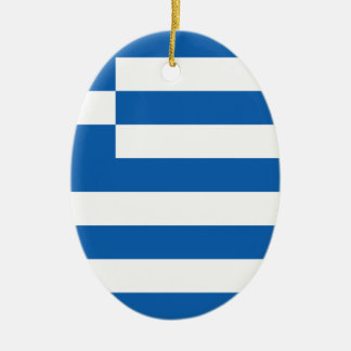 Low Cost! Greece Flag Ceramic Oval Decoration