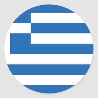 Low Cost! Greece Flag Classic Round Sticker