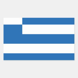 Low Cost! Greece Flag Rectangular Sticker