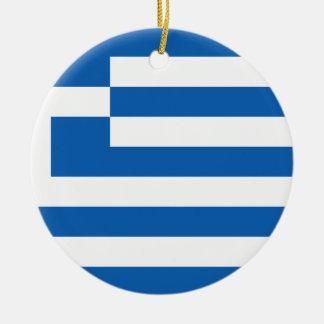 Low Cost! Greece Flag Round Ceramic Decoration