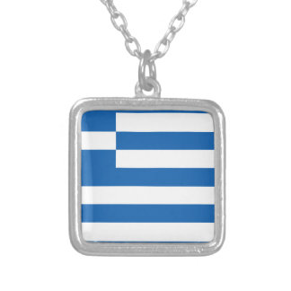 Low Cost! Greece Flag Silver Plated Necklace