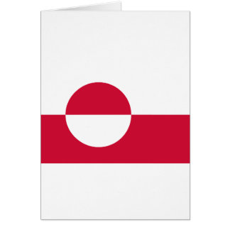 Low Cost! Greenland Flag Card