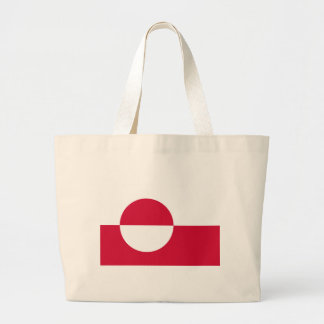 Low Cost! Greenland Flag Large Tote Bag