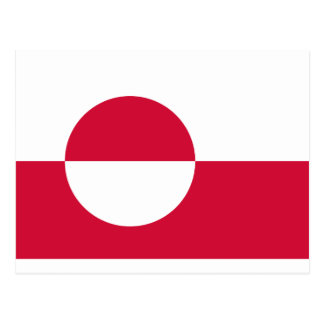 Low Cost! Greenland Flag Postcard