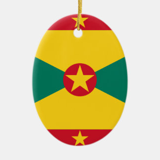 Low Cost! Grenada Flag Ceramic Oval Decoration