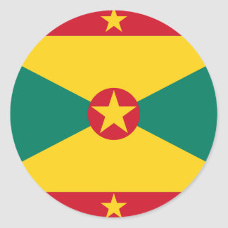 Low Cost! Grenada Flag Classic Round Sticker