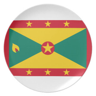 Low Cost! Grenada Flag Plate