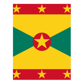 Low Cost! Grenada Flag Postcard