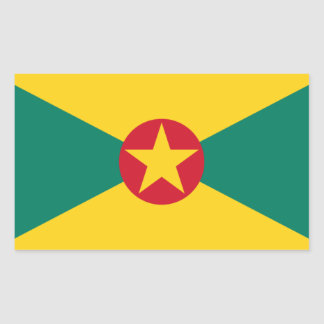Low Cost! Grenada Flag Rectangular Sticker