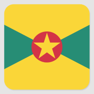 Low Cost! Grenada Flag Square Sticker